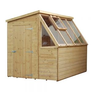 Mercia Premium T&G Potting Shed Wooden Greenhouse 8x6