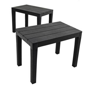 Roma Anthracite Bench (Pack of 2)