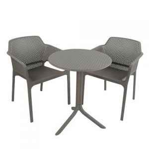Step Turtle Dove Bistro Table with 2 Net Chairs