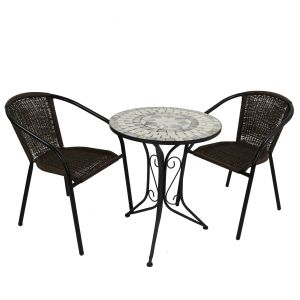 Verde Bistro Table with 2 San Remo Chairs