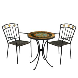 Villena Bistro Table with Malaga Chairs