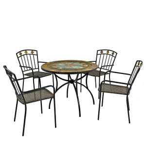 Villena Patio Table with Malaga chairs