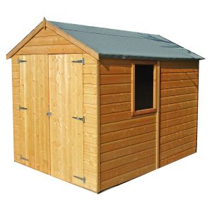 Shire Warwick Apex Shed with Double Doors 8x6