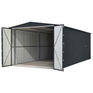 Lotus Metal Double Hinged Garage Anthracite Grey 10x15