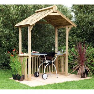 Forest Garden Barbecue Shelter Arbour