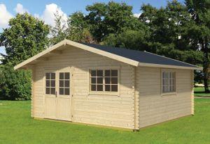 Gotland 6 F Double Door Log Cabin 17x13