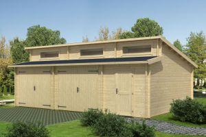 Hawaii Double Garage Log Cabin 44mm 7.8m x 5.2m