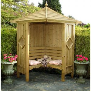 Shire Corner Arbour (cushions not included)