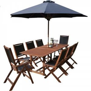 Rowlinson Bali 10 Piece Garden Furniture Set