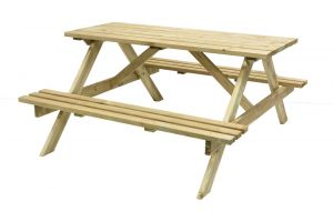 Oblong Garden Table with Seats