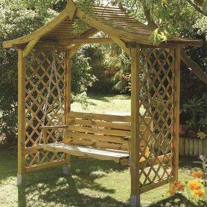Rowlinson Dartmouth Swing Seat Arbour