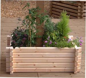Buildround 18x48 rectangular planter