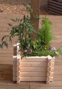 Buildround 18x18 sq planter