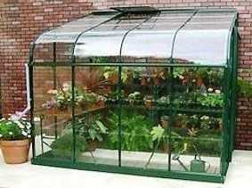 Silverline Lean-To 8x6 Greenhouse Forest Green