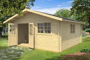 Gotland 7 F Double Door Log Cabin 40mm 4.85m x 4.85m