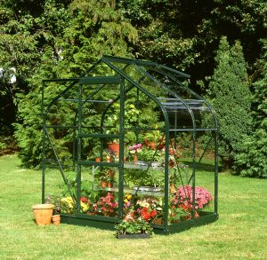 Halls Supreme 4x6 Greenhouse Forest Green