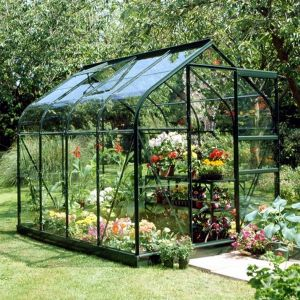 Halls Supreme 6x6 Greenhouse Forest Green