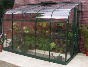 Silverline Lean-To 12x6 Greenhouse Forest Green
