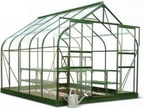Halls Supreme 12x8 Greenhouse Forest Green