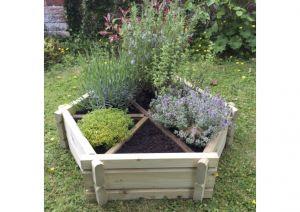 Small Herb Wheel/ Planter
