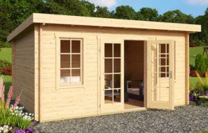 Padstow Log Cabin 44mm 4.55m x 3.3m (with optional Georgian window bars)
