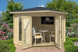 Oban 40 Log Cabin Summerhouse 40mm 2.4m x 2.4m