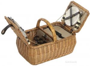 Jack's Luxury Folding Willow Picnic Hamper - 4 Person