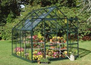 Halls Magnum 10x8 Greenhouse Forest Green