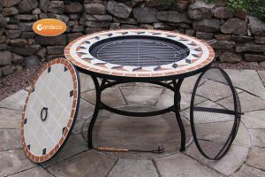 Gardeco Tile Mosaic Firepit Table