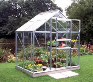 Halls Popular 6x4 Greenhouse Silver Aluminium