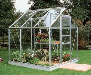 Popular 6x6 Greenhouse Silver Aluminium