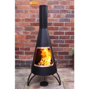 Gardeco Cono Steel Cone Chiminea - Copper Coloured Rim