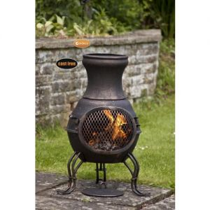 Gardeco Billie Bronze Small Cast Iron Chiminea
