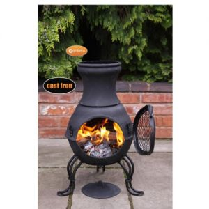 Gardeco Billie Black Small Cast Iron Chiminea