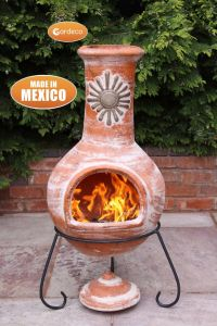 Gardeco Sol Extra Large Rustic Orange Mexican Clay Chiminea
