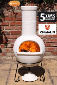 Gardeco Sempra Chimalin AFC Large Natural Clay Chiminea