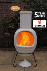 Gardeco Asteria Chimalin AFC Ex-Large Natural Clay Chiminea