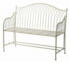 Hampton Cream Folding Garden Bench