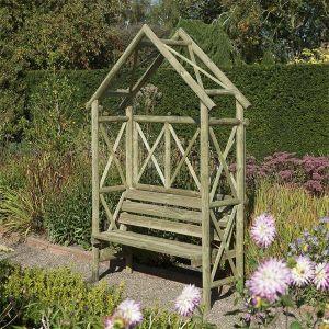 Rustic Arbour Seat