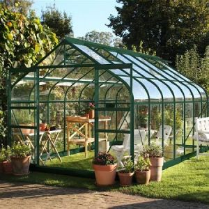 Halls Supreme 8x14 Greenhouse Forest Green