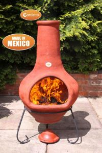 Gardeco Tibor Jumbo Mexican Clay Chiminea Brown
