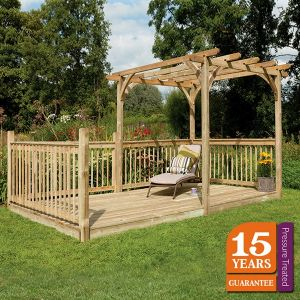 Forest Ultima Pergola Deck Kit 2.4 x 4.8m