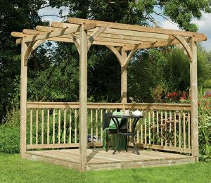 Forest Ultima Pergola Deck Kit 2.4 x 2.4m