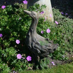 Duck Statue Driftwood Effect