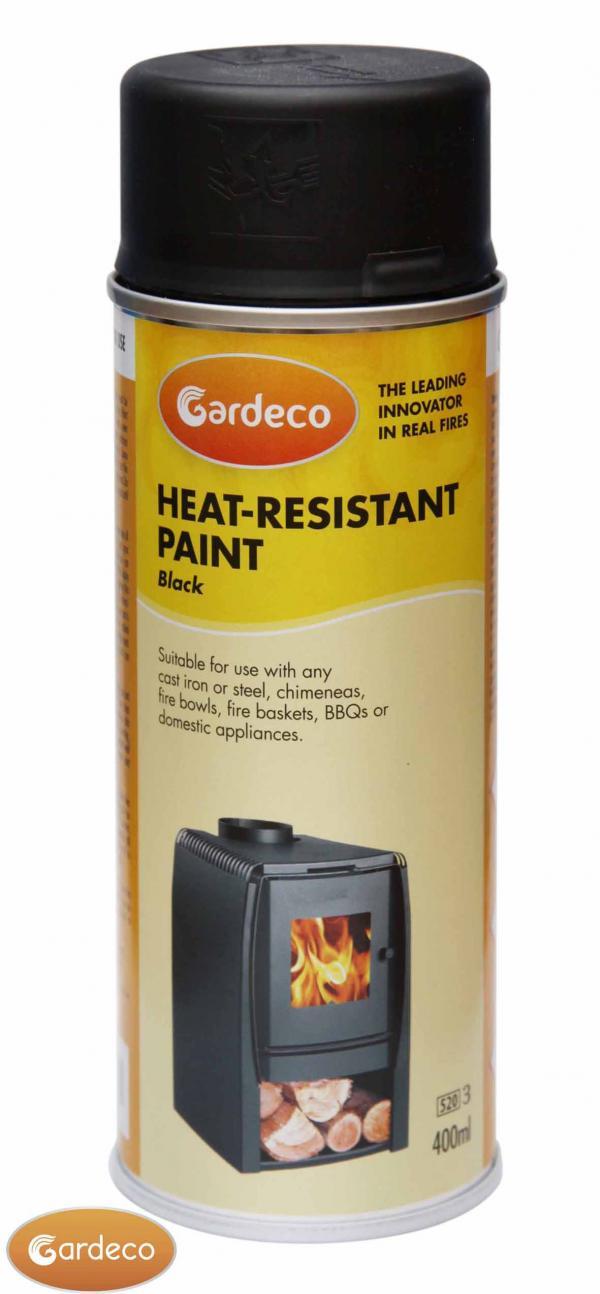 Gardeco Stove Black Heat-Resistant Paint 400ml