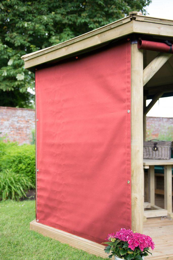 Set of 6 Curtains for 3m Hexagonal Garden Gazebo - Terracotta