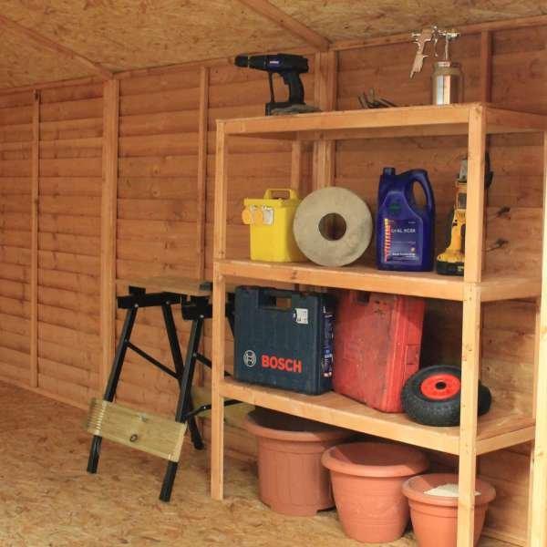 4ft Triple Tier Wooden Shelf