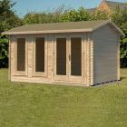 Forest Chiltern Log Cabin Double Glazed with Felt Shingles 4m x 3m