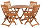 Royalcraft Manhattan Round Folding Table & 4 Manhattan Folding Chairs