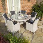 Prestbury 6-Seater Wicker Dining Set